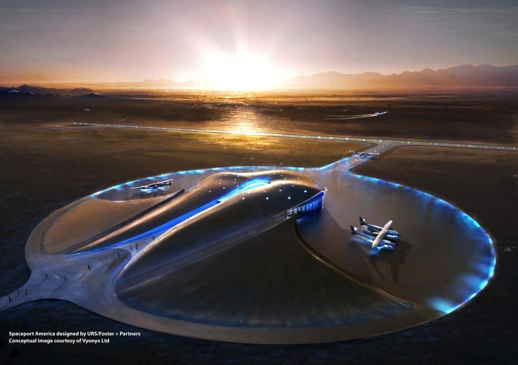 Weltraumhafen Terminal Hangar Konzept