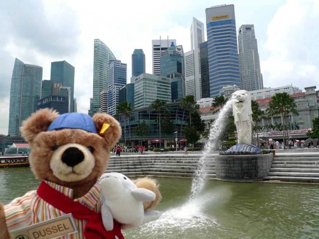 Der Düssel-Bär war in Singapur Foto: Hilton