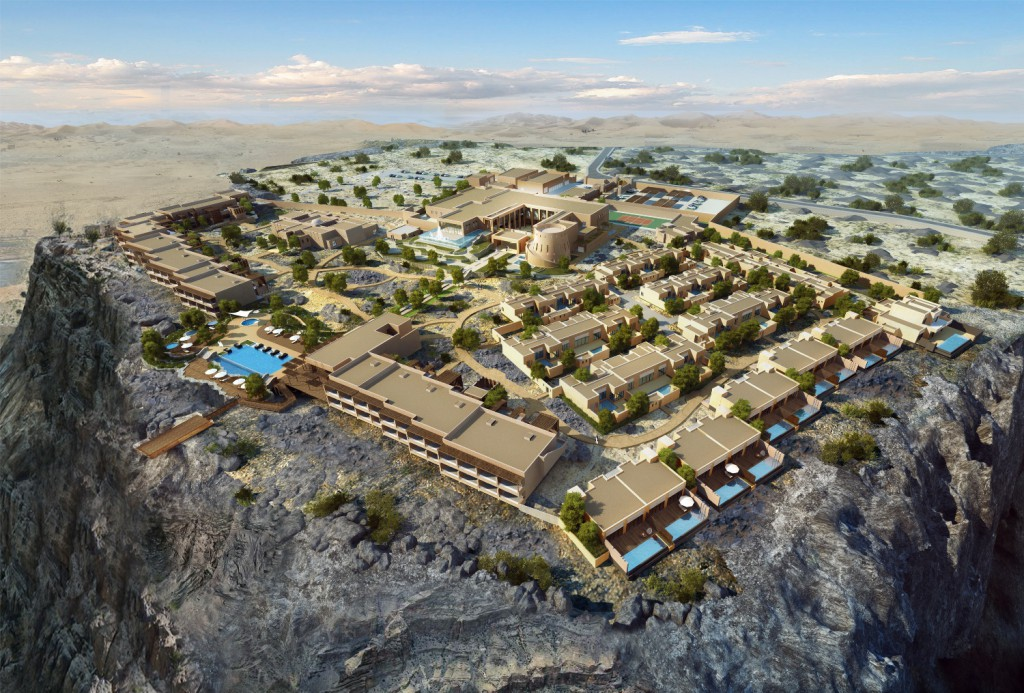 Ein echter Rückzugsort ist das Anantara Jabal Al Akhdar Resort an einem Canyon des Hadschar-Gebirges in Oman. Foto: Anantara-Hotels-Resorts-Spas