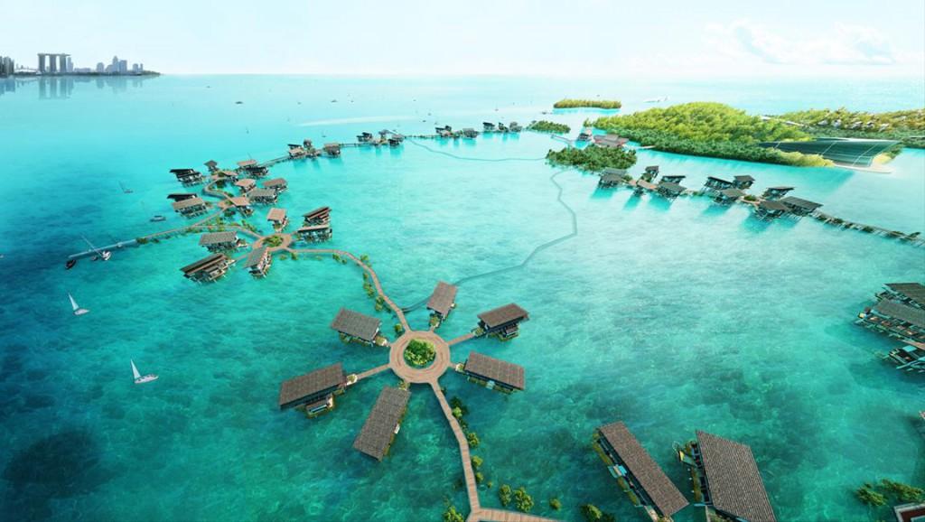 Nur eine 20-minütige Fahrt mit der Fähre oder Luxusyacht trennt Singapur von den Riau-Inseln. Dort entsteht 16 Kilometer vor dem Stadtstaat Funtasy Island, nach Angaben der Betreiber der größte Öko-Themenpark der Welt. Foto: Funtasy-Island