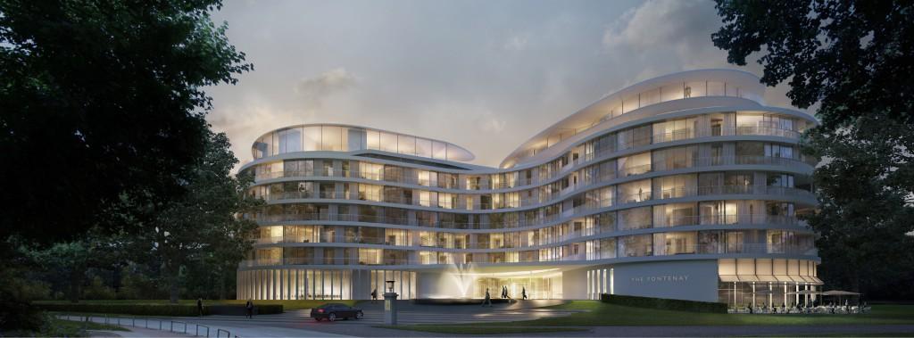 Im Herbst 2016 eröffnet mit The Fontenay Hamburg zum ersten Mal seit 18 Jahren wieder ein Fünf-Sterne-Superior-Hotel in der Hansestadt. Foto: The Fontenay Hamburg