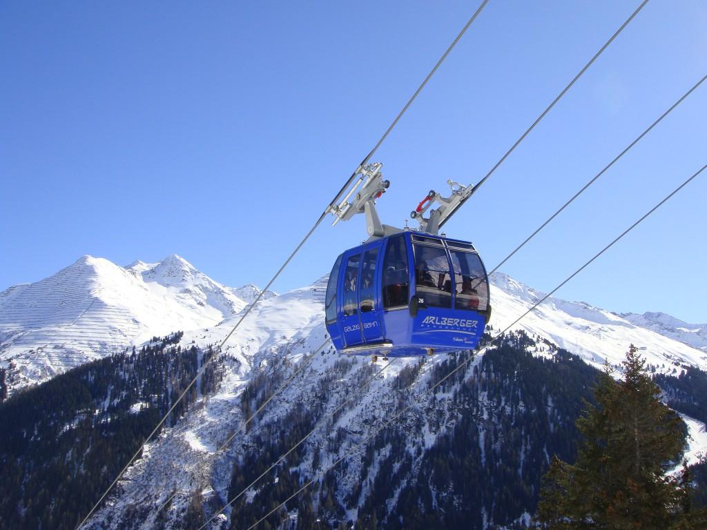 Die Galzigbahn in St. Anton am Arlberg.