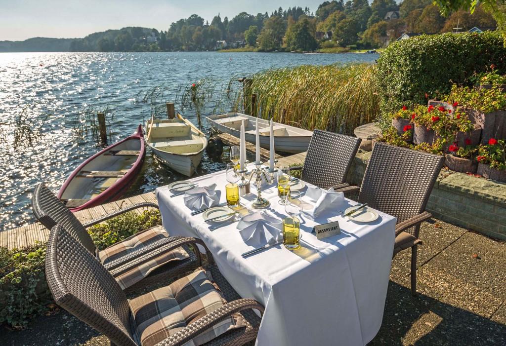 Genuss für die Sinne: Das Schleswig-Holstein Gourmetfestival ist bekannt für exzellente Gastgeber, Häuser, Plätze und Gastköche. Hier: Der Seehof in Ratzeburg Foto: Susanne Plaß