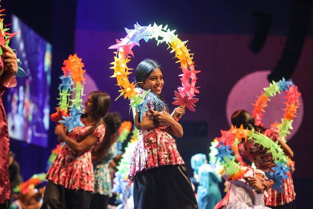 Eröffnungsfeier mit einem Bühnenprogramm des Partnerlandes Malediven. Fotos: Messe Berlin