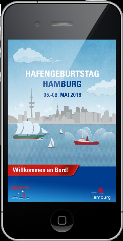 Die App zum 827. Hafengeburtstag Hamburg. Foto: Hamburg Messe